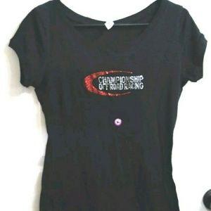 Next Level Apparel Black T shirt Faux Bling SZ XLG
